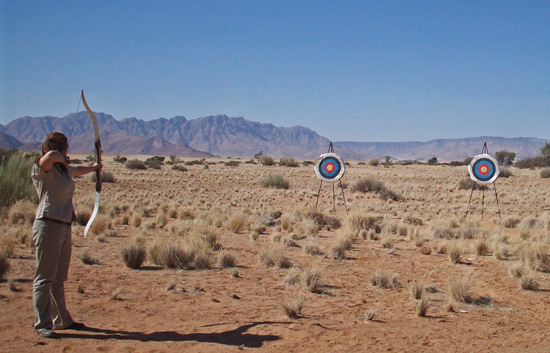 Archery at Sossusvlei Lodge