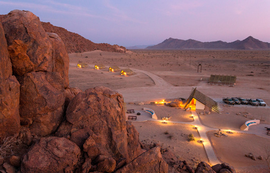 On Site Facilities At Desert Quiver Camp Namibia