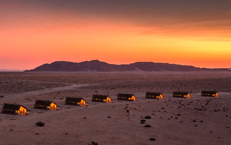 Desert Quiver Camp Units at Sunset