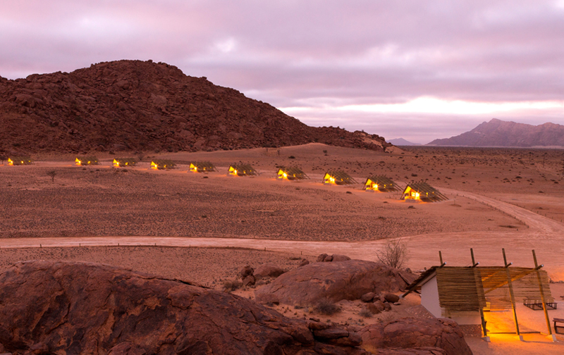 Accommodation at Desert Quiver Camp